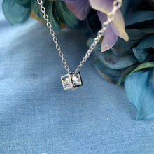 Load image into Gallery viewer, Cube Necklace with Crystal Center