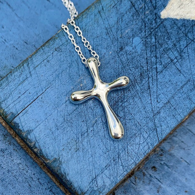 Bubble Cross Necklace | Blessed Be Boutique