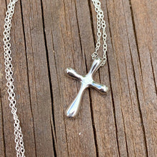 Load image into Gallery viewer, Bubble Cross Sterling Silver Necklace