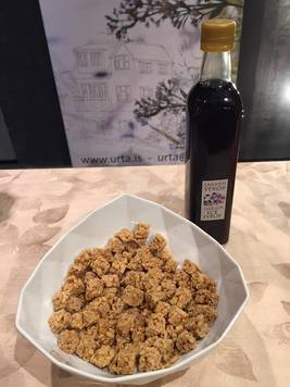 Rice crispies cakes with Urta's Herbal syrups