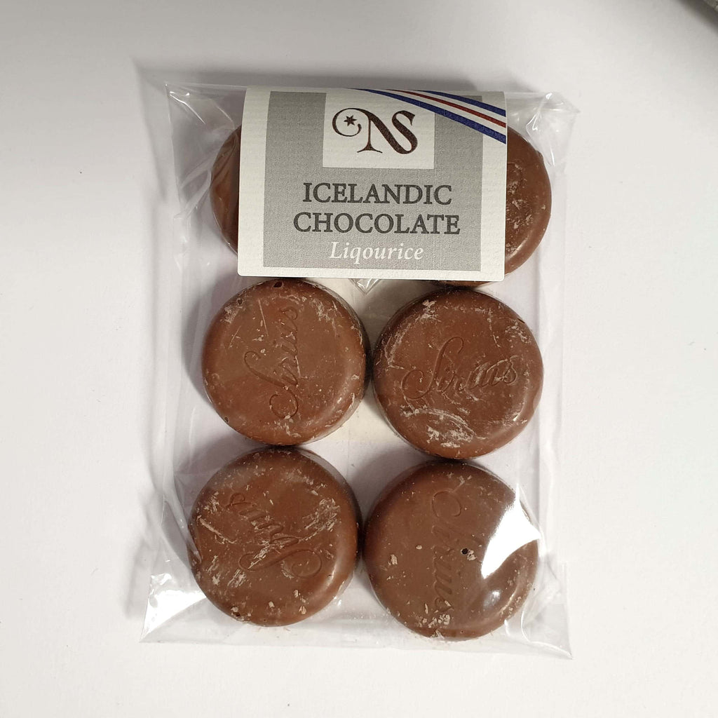 Chocolate Buttons with Liqourice