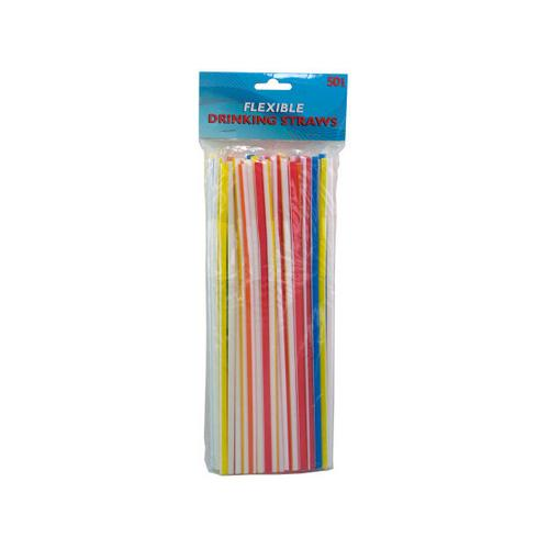 Flexible Drinking Straws ( Case of 12 )
