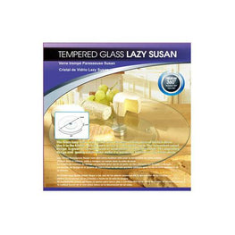 Tempered Glass Lazy Susan ( Case of 4 )