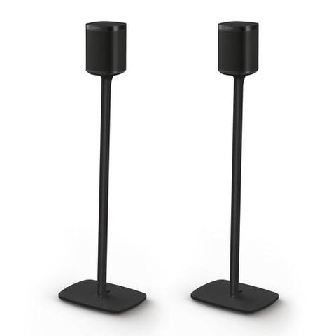Front Sample View Floor stand for SONOS One (Pair, Black)