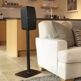 Indoor Sample Front View FLEXSON Floor Stand for Sonos PLAY:5 (Single, Black)