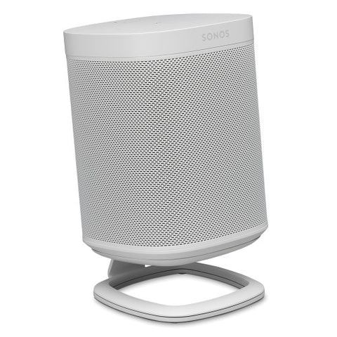 Front Sample View FLEXSON Desk Stand for Sonos One or PLAY:1 (Single, White)