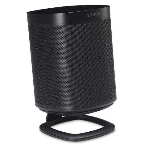 Front Sample View FLEXSON Desk Stand for Sonos One or PLAY:1 (Single, Black)