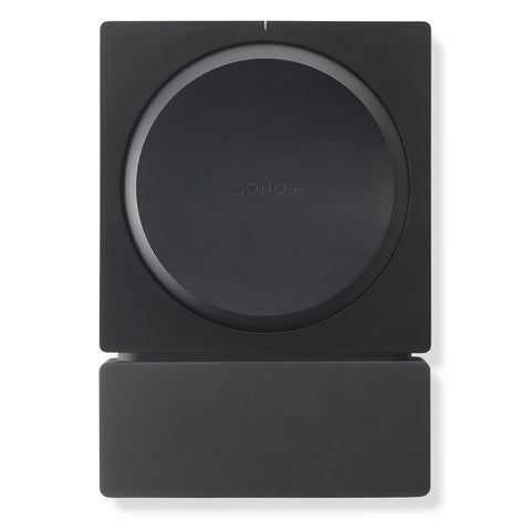 Front Sample View Flexson Wall Mount For SONOS AMP (Black)