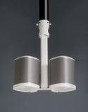 "Indoor Sample View FLEXSON Pole Adapter for PLAY:1 Ceiling Mount (2"", White)"