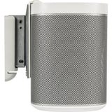 Alt Side Profile Sample View Wall Mount for SONOS PLAY:1 with installation hardware (Pair, White)