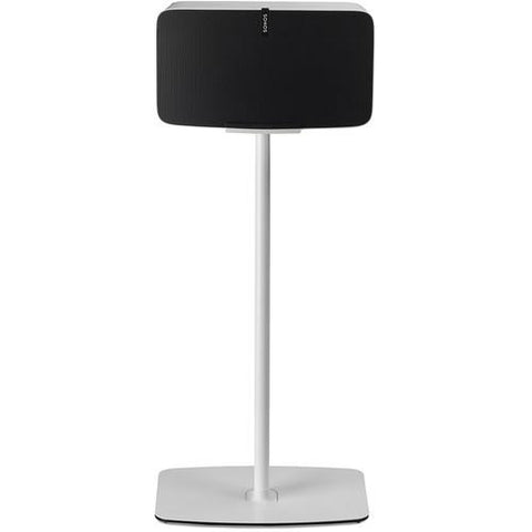 Front Sample View Flexson Horizontal Floor Stand for SONOS PLAY:5 Smart Wireless Speaker (Single, White)