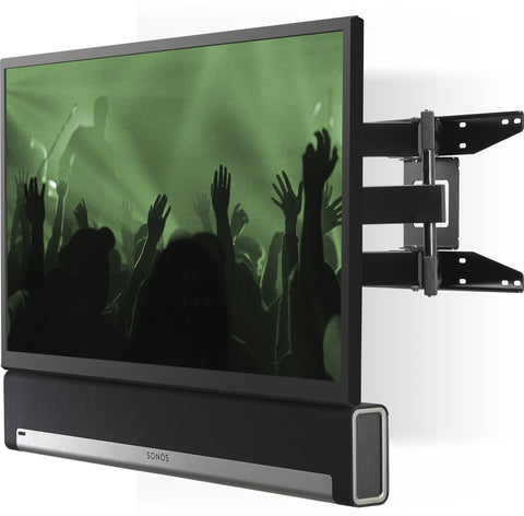 Sample View Flexson Cantilever Mount For TV And Sonos Beam Or Sonos Playbar (Black)