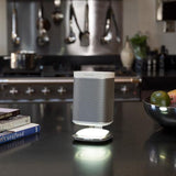 Alt 3 Indoor Sample View Flexson Illuminated Charging Stand for SONOS PLAY:1 (Single, White)
