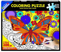 Jigsaw - Butterfly Coloring 300 pc