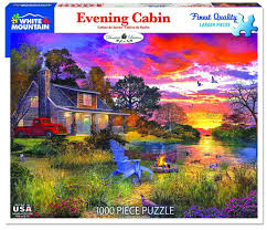 Jigsaw - Evening Country Cabin 1000 pc