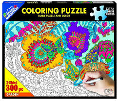 Jigsaw - Garden Coloring 300 pc