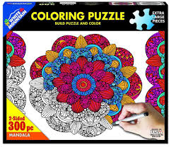 Jigsaw - Mandala Coloring 300 pc
