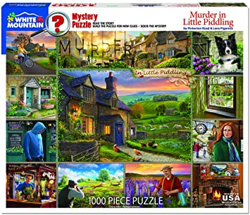 Jigsaw - Murder in Little Piddling Puzzle/Game 1000 pc