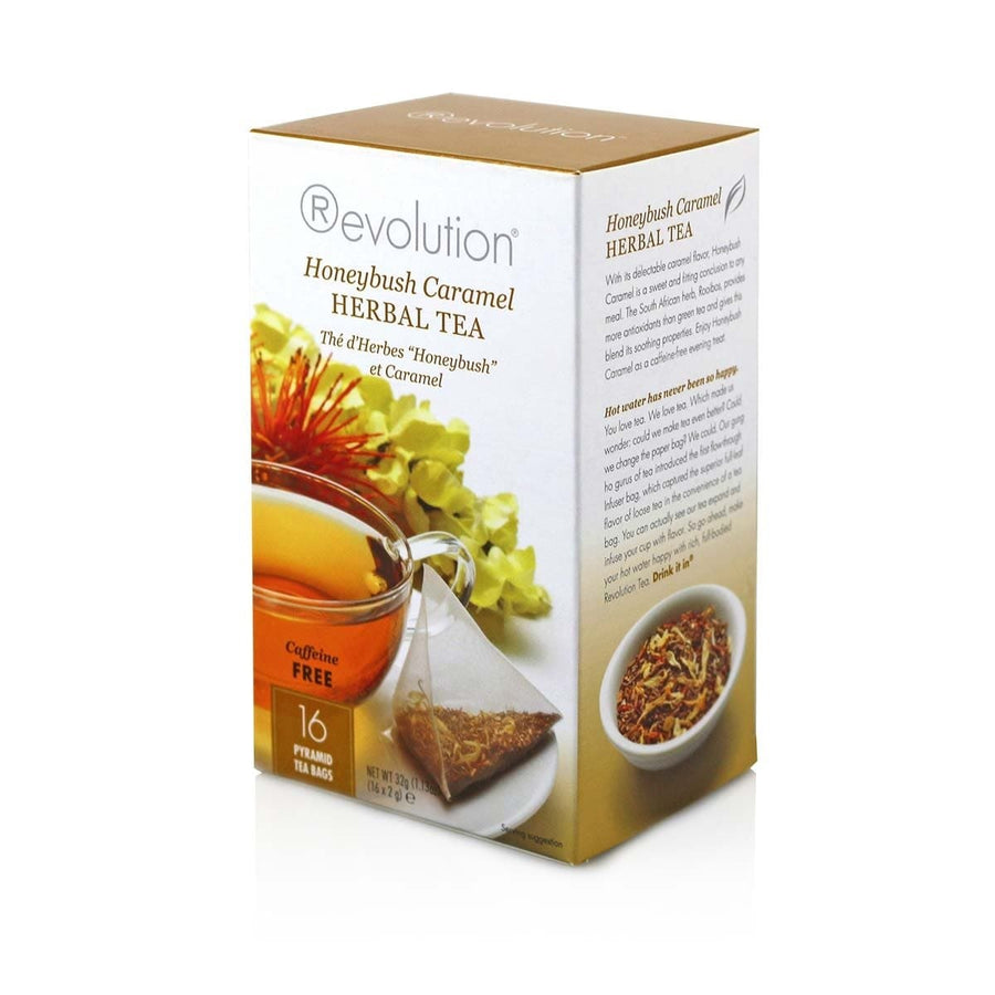Revolution Tea Honeybush Caramel Herbal Tea 16 Count
