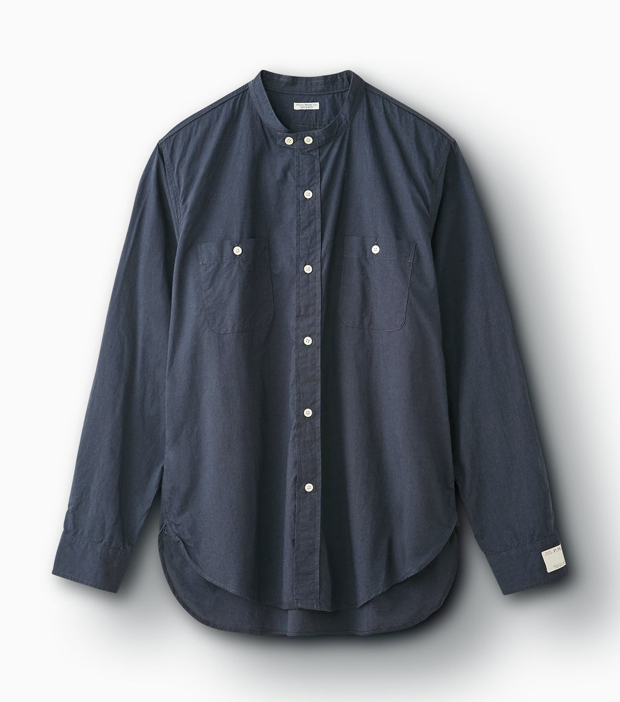 "PHIGVEL MAKERS & Co. ""Long Band Collar Shirt"" Steel Gray"