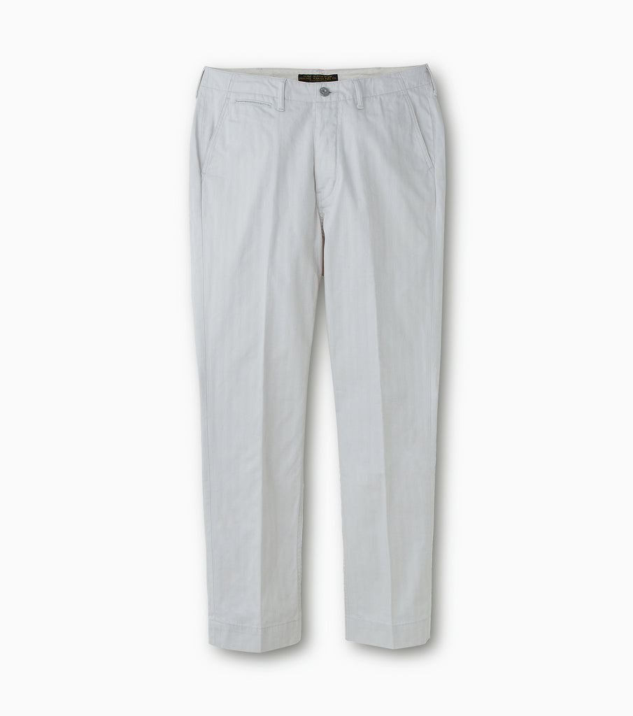 "PHIGVEL MAKERS & Co. ""Classic HBT Trousers"" Smoke Ivory"
