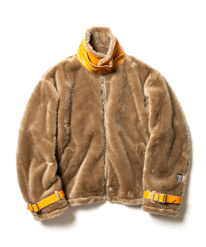 "Flagstuff ""Faux Fur B-3 Jacket"" Beige"