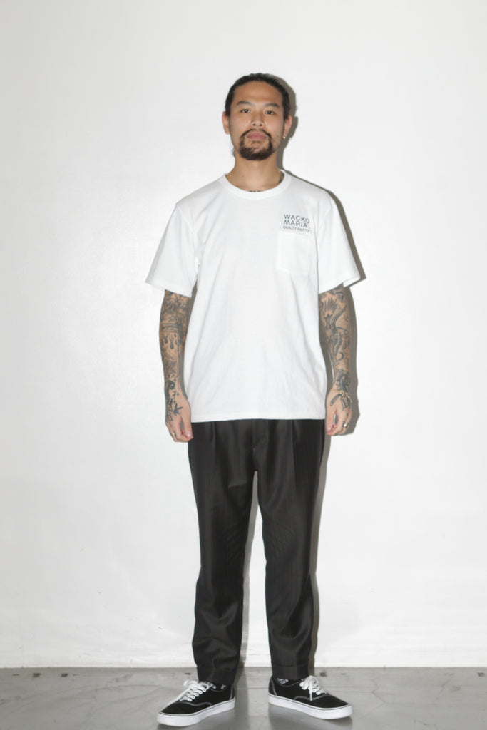 "WACKO MARIA ""Crew Neck S/S Pocket Tee"" White"