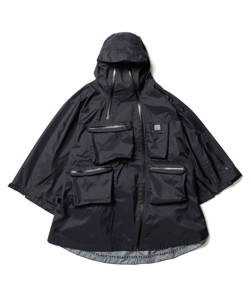 "Flagstuff ""3M Nylon Poncho"" Black"