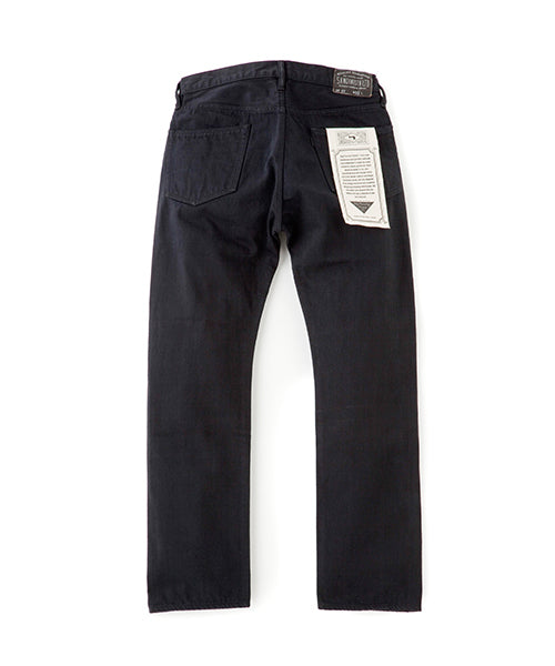"Sandinista MFG ""B.C. Denim Pants Straight"" Black"