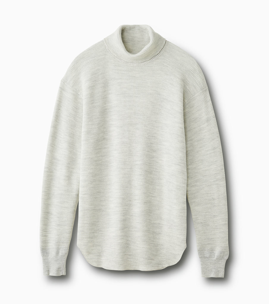 "PHIGVEL MAKERS & Co. ""Waffle Turtleneck Top"" Oatmeal"
