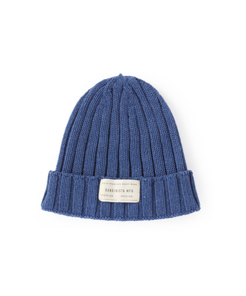 "Sandinista MFG ""Daily Cotton Rib Knit Cap"" Indigo Blue"