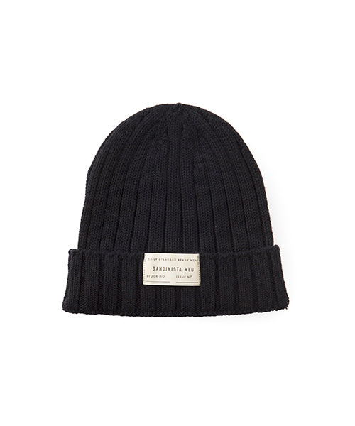 "Sandinista MFG ""Daily Cotton Rib Knit Cap"" Black"