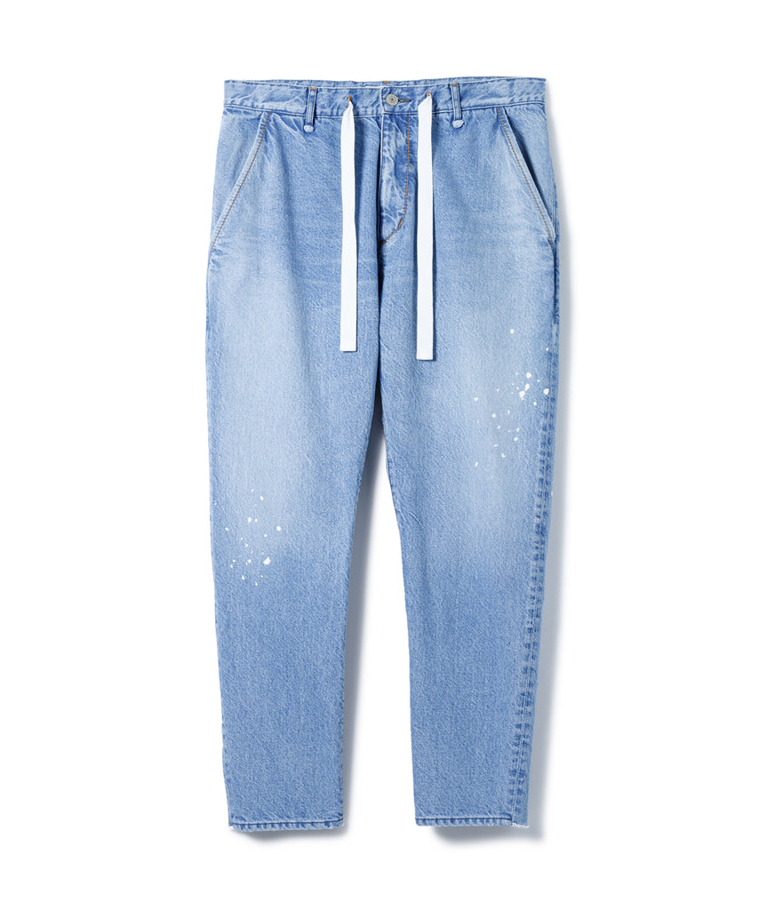 "Sandinista MFG ""Easy Denim Pants - Damaged easy Fit tapered"""
