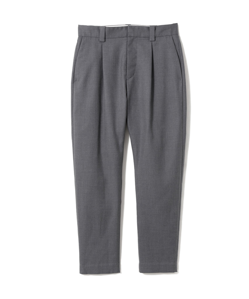 "Sandinista MFG ""Wool Tuck Pants - Easy Fit Tapered"" Charcoal Gray"