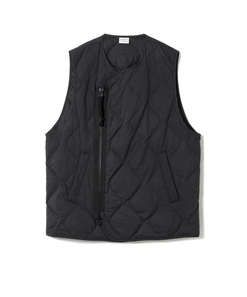 "Sandinista MFG ""Quilted Down Vest"" Black"