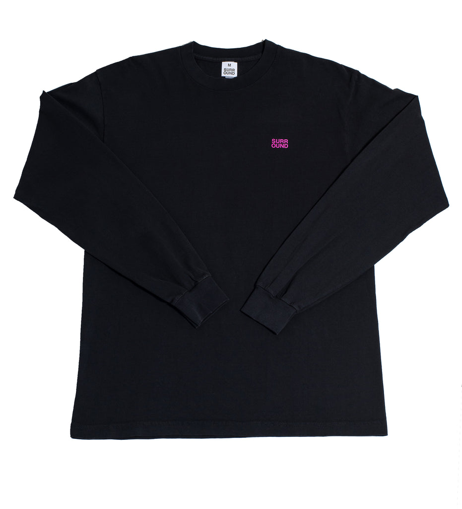 "Surround ""Ainu Long Sleeve Tee"" Black"