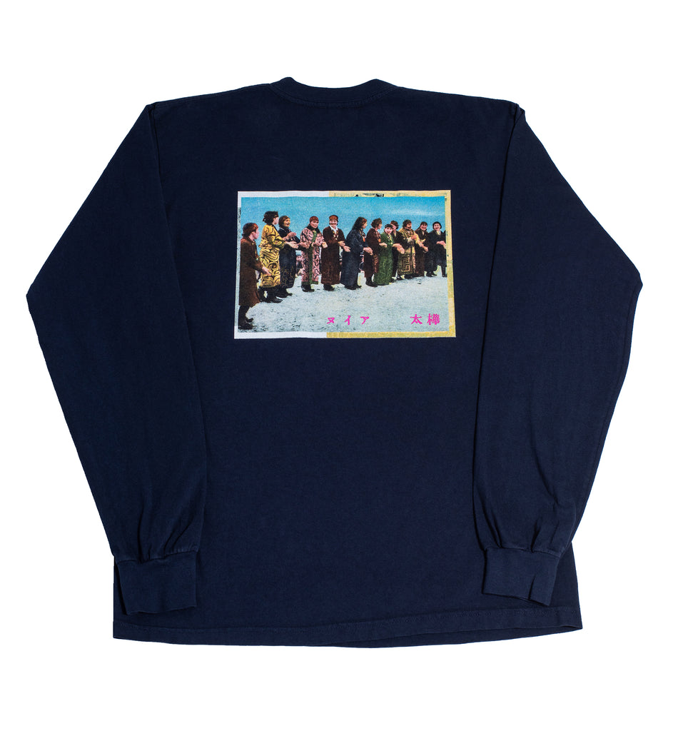 "Surround ""Ainu Long Sleeve Tee"" Navy"