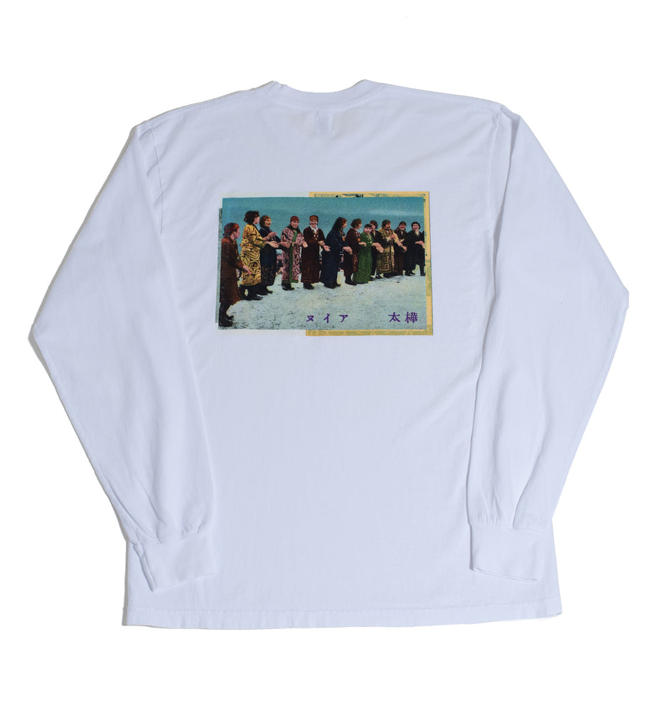 "Surround ""Ainu Long Sleeve Tee"" White"