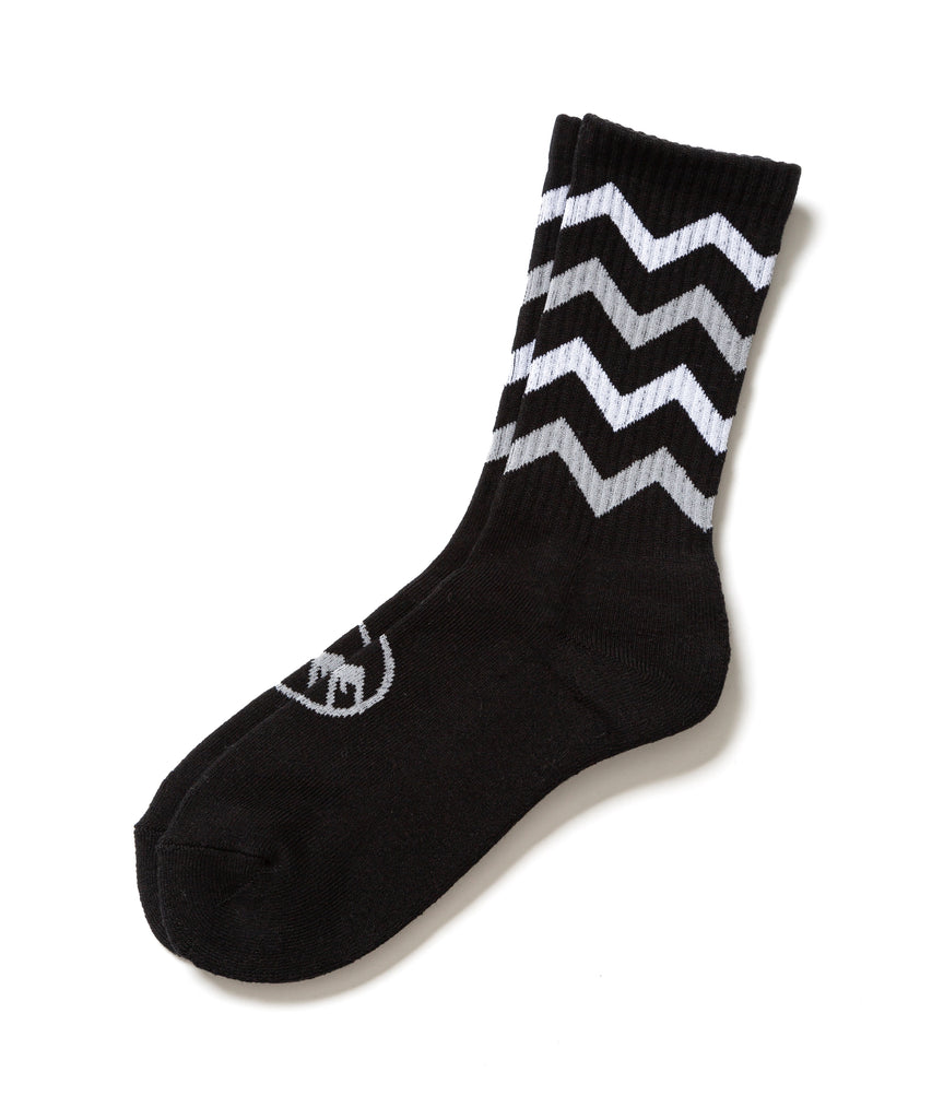 "Flagstuff ""Zig-Zag Socks"" Black x Gray"