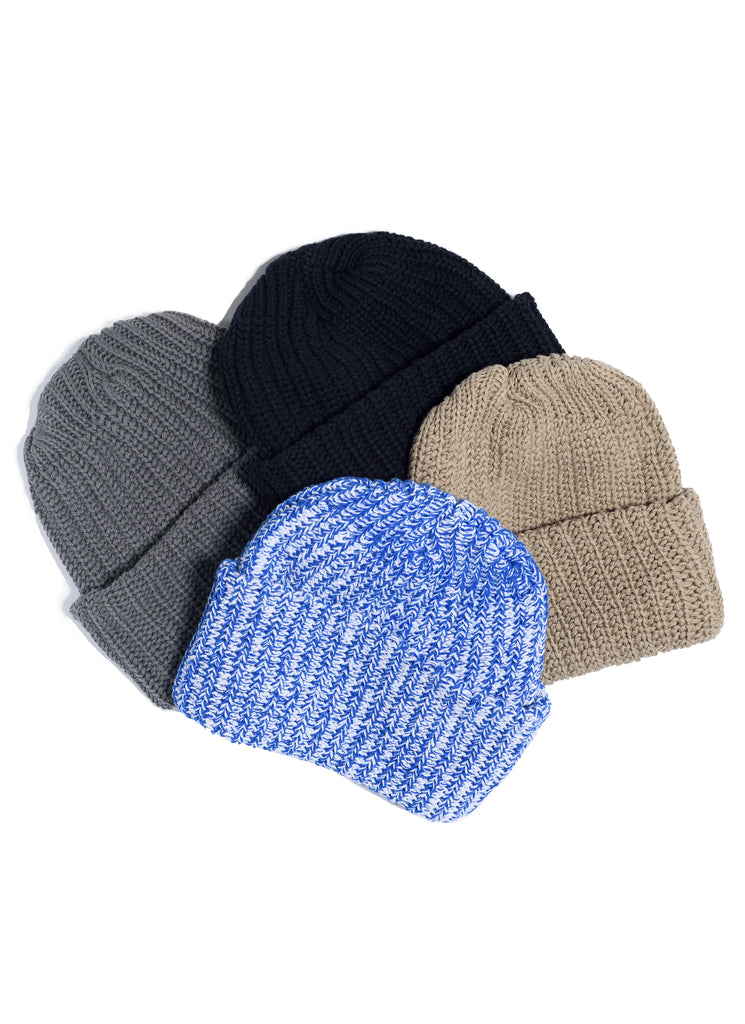 Cotton Knit Beanie - Gray