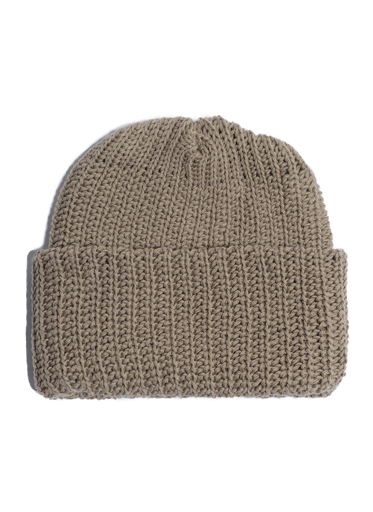 Cotton Knit Beanie - Coyote