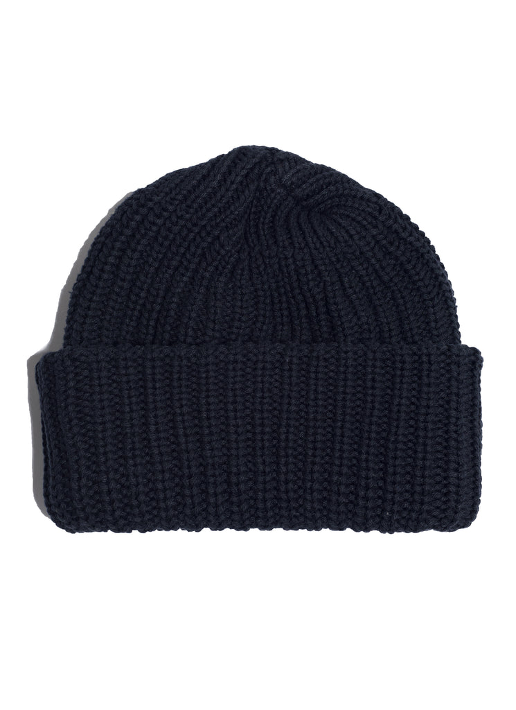 Cotton Knit Beanie - Black