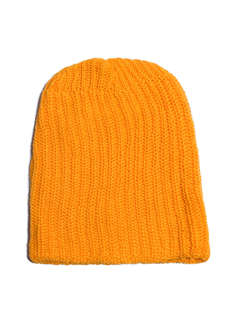 Cotton Knit Watch Beanie - Gold