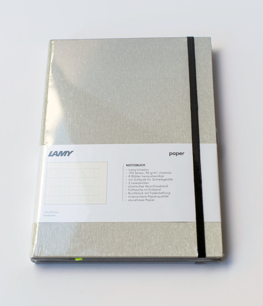 "LAMY ""Hardcover Notebook"" A5 Brushed Metal/Black"
