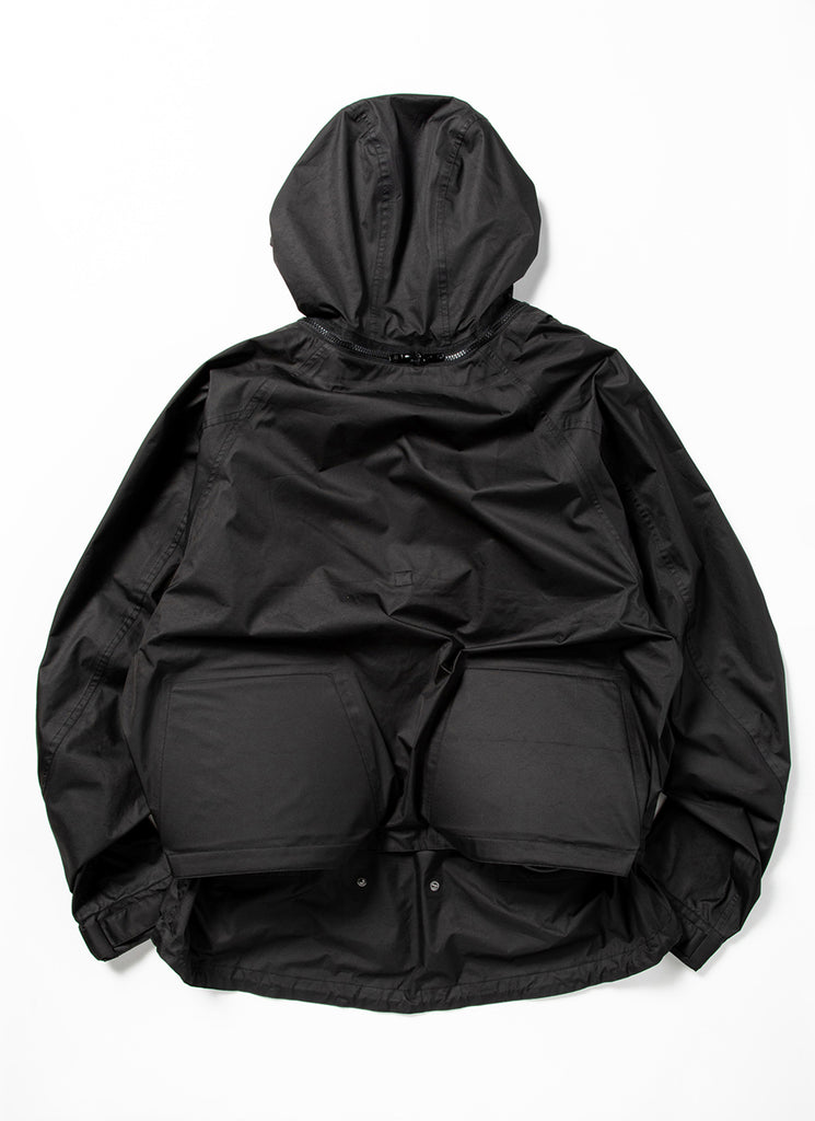 "meanswhile ""Air Circulation System Rain jacket"" Off Black"