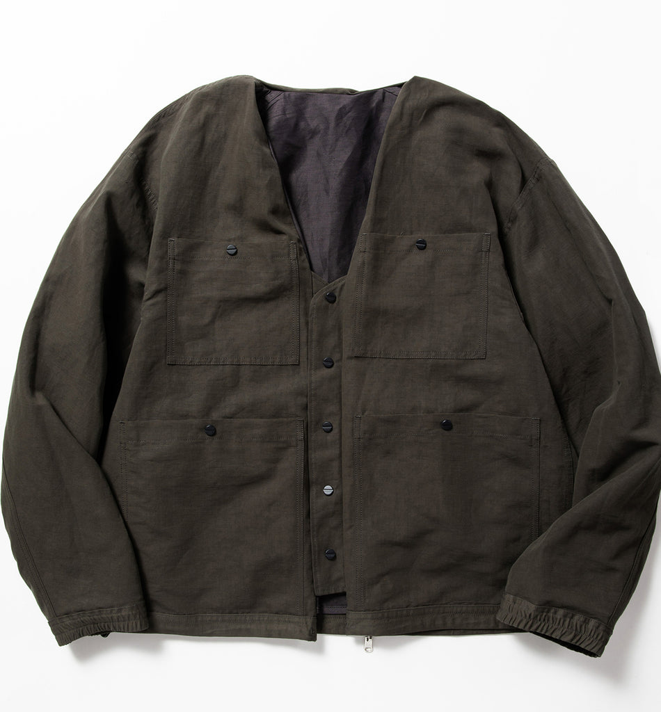 "meanswhile ""Duality Cloth Reversible 4way Jacket"" Off Black"