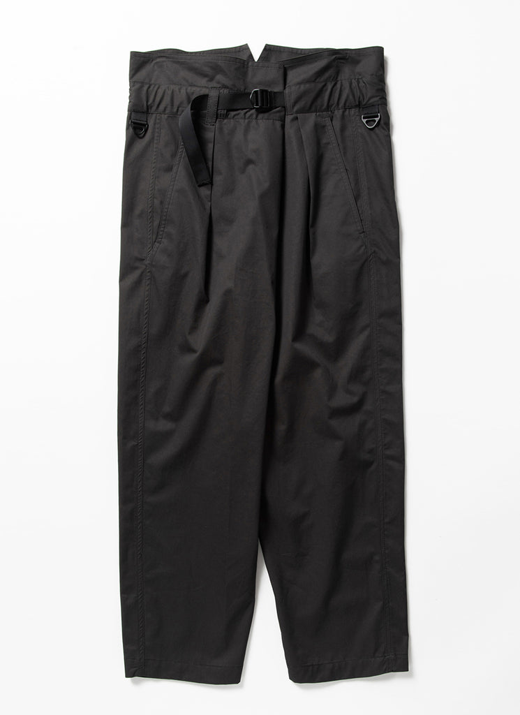 "meanswhile ""High Density Gabardine Wrap Pants"" Off Black"