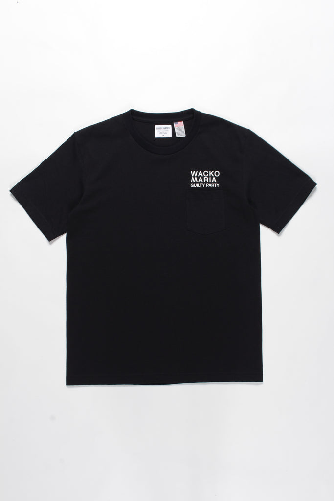 "WACKO MARIA ""Crew Neck S/S Pocket Tee"" Black"