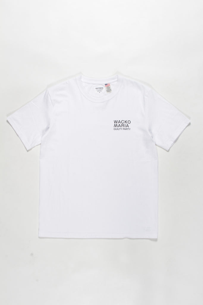 "WACKO MARIA ""USA Body Crew Neck S/S Tee"" White"