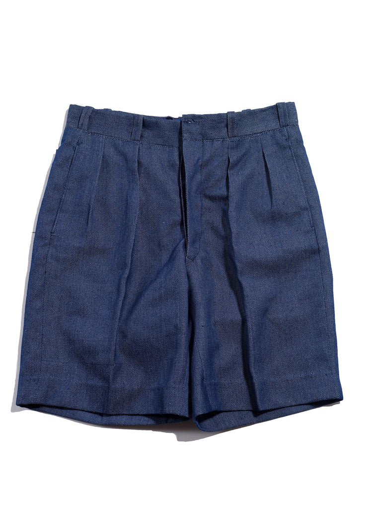 Portugal Air Force Pleated Denim Shorts